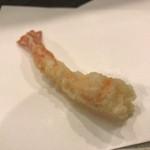 天ぷら わかやま - 天ぷらわかやま本店(才巻き海老1本目)