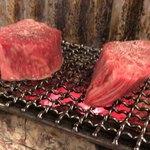 日本焼肉党 - シャトーブリアン 焼いてます