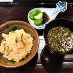 和の食 いがらし - 牡蠣の炊き込み御飯は絶品!