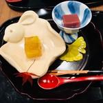 和の食 いがらし - ゆずの水羊羹&葡萄のゼリー