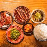 七輪焼肉SASAYA - ハラミ定食