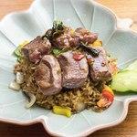 サイアム セラドン - 「選べるディナーセット」葡萄牛のガパオ炒飯