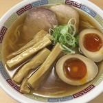 煮干鰮らーめん 圓 - 煮干しラーメン (味玉・めんまトッピング:トッピングしないと味玉は1/2個 メンマ少なくなります)