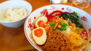 ラーメン横浜家 金港町店 - 特製汁なし担々麺(880円)。辛さは1~4辛でチョイスできます。