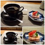 九州の旬 博多廊 - 食後は珈琲・紅茶が選べます(それぞれアイスも可)ので、珈琲を。 会員(無料・登録のみ)に出されるデザート。