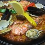 會津バル - 魚介のパエリア