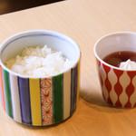山梨ほうとう 浅間茶屋 - ご飯セット
