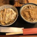 77634829 - カツ丼セット(650円)+あげきつね(120円)
