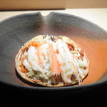 菊鮨 - *香箱蟹らしい甘みを感じて美味しい。外子・内子ともにタップリで、より美味しい。 日本酒がすすみます。