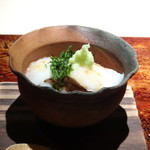 菊鮨 - ◆ノドグロ(対馬)の蒸し鮨、自然薯かけ。