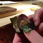 菊鮨 - ◆主人には「鯖鮨」・・鯖が厚みがあり美味しいそうな。