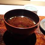 菊鮨 - ◆赤だし・・ワカメ・賽の目に切ったお豆腐入り。