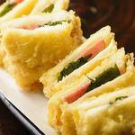 十八番 - 1日限定8食[復活草庵名物] サンドウィッチの天ぷら!