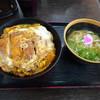 Sukesanudonasakawaten - 料理写真:◆カツとじ丼、ミニうどん付(850円)