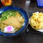 資さんうどん - ◆かき揚げうどん(510円)+きつね(90円)