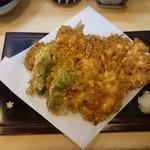 千束いせや - 天ぷら定食 1200円
