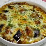 るぅ~ - 煮込み鶏とナスのチーズ焼きカレー