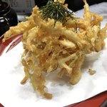 季節料理 藤 - 白エビのかき揚げ