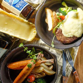 お肉とチーズでカジュアルバル料理をご堪能ください♪