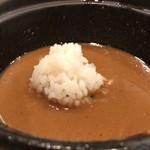 つけ麺 京都わたなべ - 〆にご飯