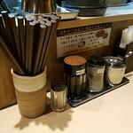 麺工 豊潤亭 - 箸入れ
