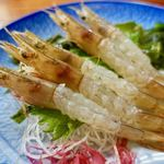 味いそ料理 庄や - 料理写真:日生スクモエビの造り