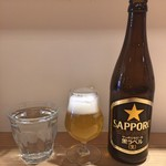 分讃岐うどんあ季 時譚 - 水 + 瓶ビール