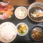 77659414 - 刺身と煮サバ定食です。(2017.12 byジプシーくん)