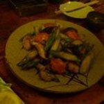 山吹 - アスパラの炒め物