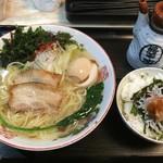 宮島ラーメン安芸侍 - 塩海苔玉ラーメンとしらすメシ