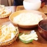 チルミーカフェ - 野菜天ぷらあつもり