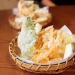 チルミーカフェ - サクサク野菜てんぷら