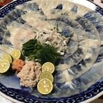 筑波 - 料理写真:豪華なてっさ。食べても食べても減りません