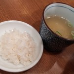 77666549 - おっかけ(鯛めし+スープ)