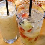 フルーツカフェ ポンポン - <5月>フルーツパンチ、ミックスジュース