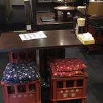 月光食堂 - 店内。椅子が・・