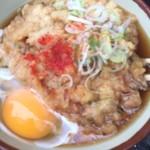 きそば 鈴一 - 天ぷら卵うどん