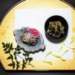 九州薩摩地鶏 薩摩次郎 - お通しと前菜