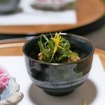 九州薩摩地鶏 薩摩次郎 - 前菜 薩摩地鶏せせりポン酢和え