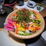 77673255 - 薩摩地鶏の棒々鶏風サラダ