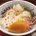 築地玉寿司 - 本鮪ねぎとろ丼(実物)