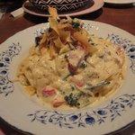 ファルファッレ - 野菜のカルボナーラ