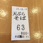 77683279 - 【'17.12】また天ぷらそば押しちゃった…
