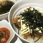 ネイキッドバー - さんまキムチ丼定食 750円