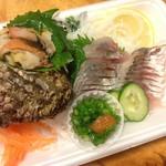 スーパーよしもと - 料理写真:さざえ&鯵 280円