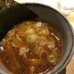 つけ麺屋 やすべえ - 辛味つけ麺  つけ汁。