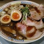 サバ6製麺所 - 【サバ醤油そば + 味玉】¥500 + ¥100(オープン記念特別価格)