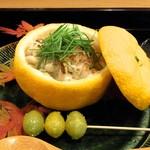 霞町 しろう - 鱈の白子の柚子釜