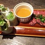 SHINJYUKU RAMBUTAN - 本日の生春巻き&牛肉のカルパッチョ
