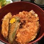 77696254 - 二色丼(野菜天丼)
